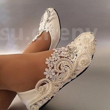 Captivating Flat Wedding Shoes Ideas07