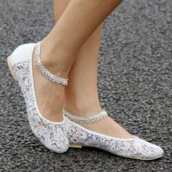 Captivating Flat Wedding Shoes Ideas19