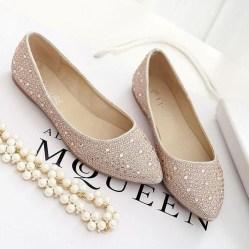Captivating Flat Wedding Shoes Ideas25