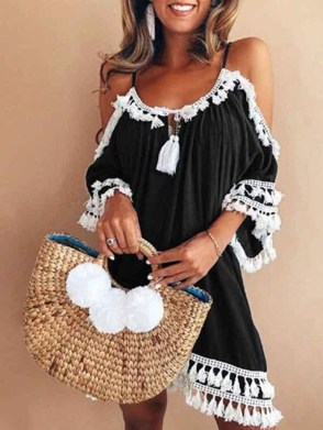 Cozy Open Shoulders Dresses Ideas For Summer08