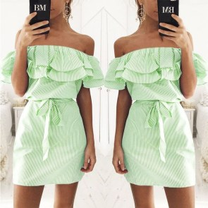 Cozy Open Shoulders Dresses Ideas For Summer11