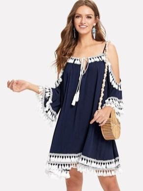 Cozy Open Shoulders Dresses Ideas For Summer15
