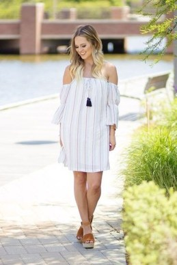Cozy Open Shoulders Dresses Ideas For Summer17