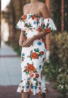 Cozy Open Shoulders Dresses Ideas For Summer25