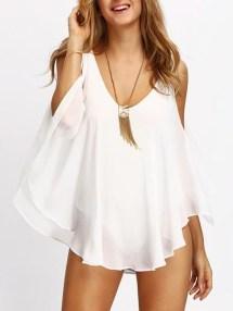 Cozy Open Shoulders Dresses Ideas For Summer28