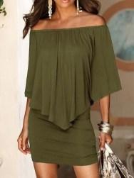 Cozy Open Shoulders Dresses Ideas For Summer33