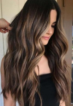 Elegant Dark Brown Hair Color Ideas With Highlights09