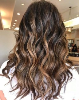 Elegant Dark Brown Hair Color Ideas With Highlights16