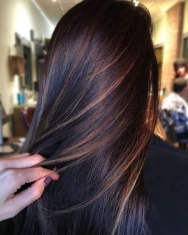 Elegant Dark Brown Hair Color Ideas With Highlights25