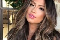 Elegant Dark Brown Hair Color Ideas With Highlights33