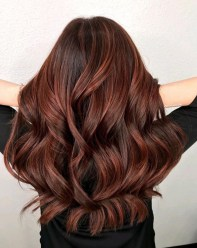 Elegant Dark Brown Hair Color Ideas With Highlights38