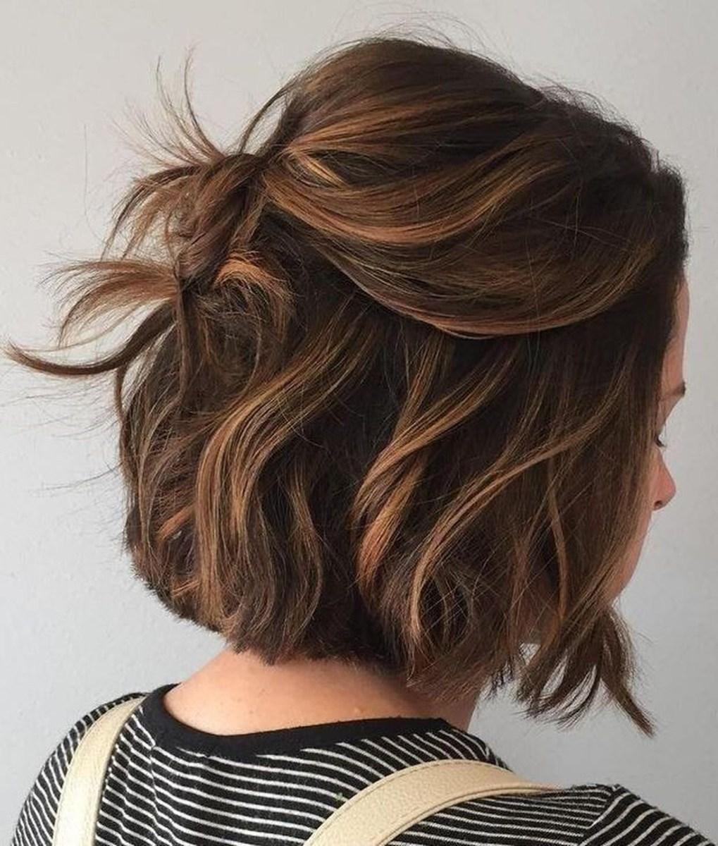 Elegant Dark Brown Hair Color Ideas With Highlights40