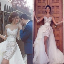 Newest Lace Sweetheart Wedding Dresses Ideas For Spring31