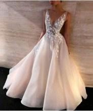 Pretty V Neck Tulle Wedding Dress Ideas For 201901