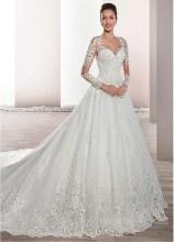 Pretty V Neck Tulle Wedding Dress Ideas For 201909