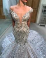 Pretty V Neck Tulle Wedding Dress Ideas For 201914