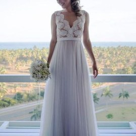 Pretty V Neck Tulle Wedding Dress Ideas For 201922