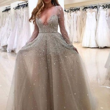 Pretty V Neck Tulle Wedding Dress Ideas For 201926