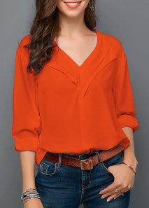 Unusual Orange Outfit Ideas For Women38