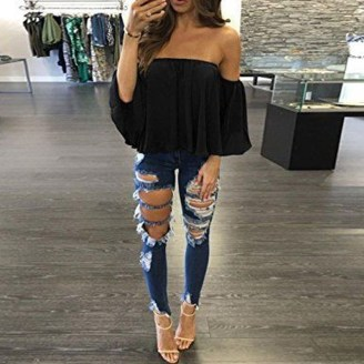 Creative Summer Style Ideas With Ripped Jeans27