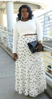 Delicate Polka Dot Maxi Skirt Ideas For Reunion02