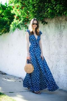 Delicate Polka Dot Maxi Skirt Ideas For Reunion24