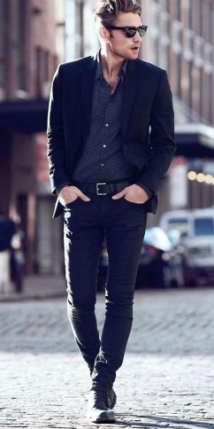 Flawless Men Black Jeans Ideas For Fall41