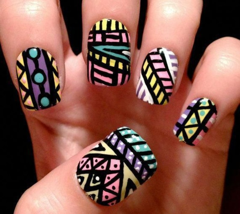 Cozy Aztec Nail Art Designs Ideas You Will Love To Copy01