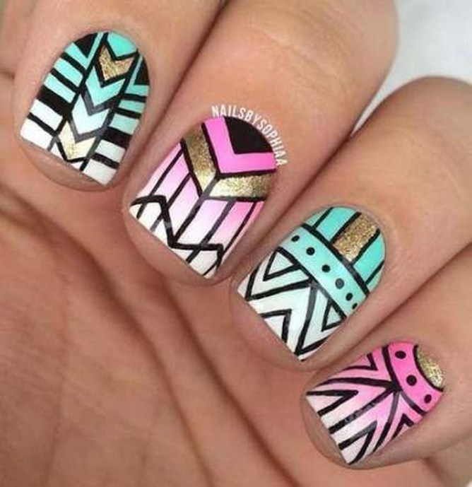 Cozy Aztec Nail Art Designs Ideas You Will Love To Copy15