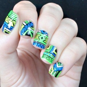 Cozy Aztec Nail Art Designs Ideas You Will Love To Copy22