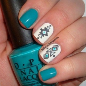 Cozy Aztec Nail Art Designs Ideas You Will Love To Copy33