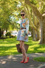 Cozy Combinations Ideas With Floral Blazers You Must Try08