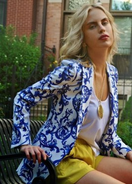 Cozy Combinations Ideas With Floral Blazers You Must Try35