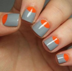 Creative Half Moon Nail Art Designs Ideas To Try14