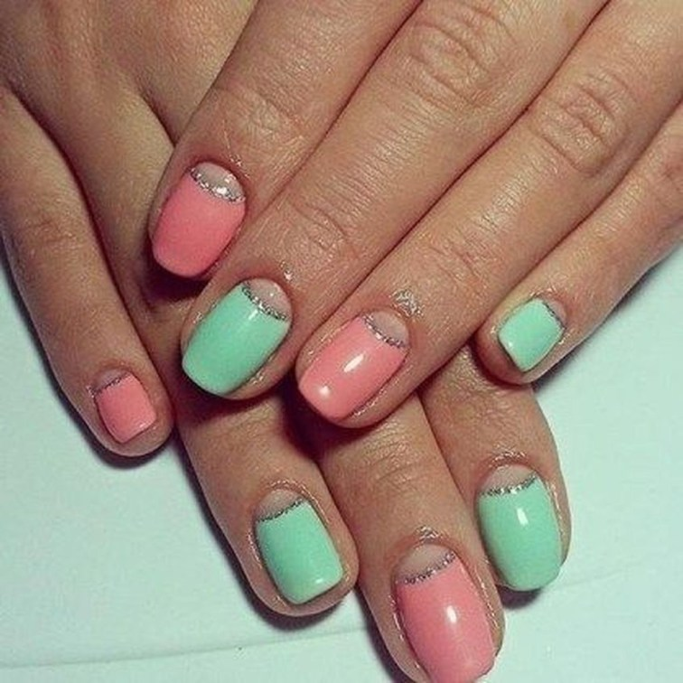 Creative Half Moon Nail Art Designs Ideas To Try27