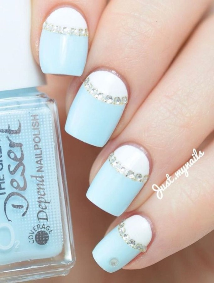 Creative Half Moon Nail Art Designs Ideas To Try42