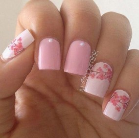 Fashionable Pink And White Nails Designs Ideas You Wish To Try02