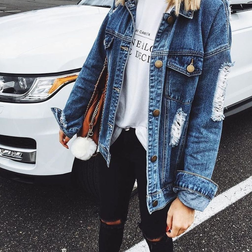 Flawless Outfit Ideas How To Wear Denim Jacket44