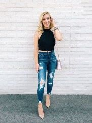 Hottest Women Summer Outfits Ideas With Ripped Jeans To Try03