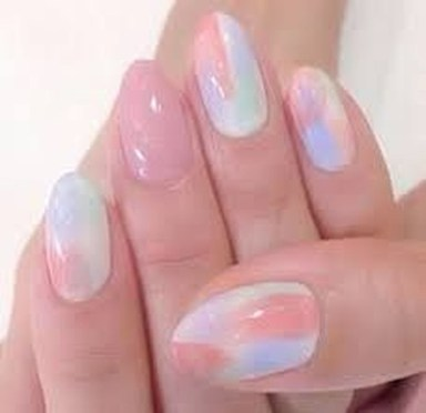 Unusual Watercolor Nail Art Ideas That Looks Cool29