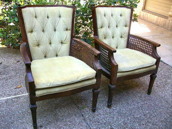 How To Reupholster An Occasional Chair With Tufted Back