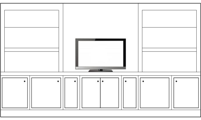 Which Living Room Cabinet/Bookshelf Arrangement Works Best?