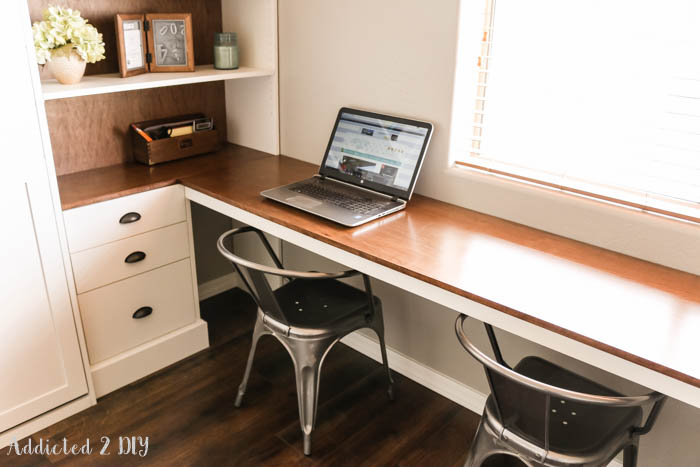 Diy Modern Farmhouse Murphy Bed How To Build The Desk Free Plans Addicted 2 Diy