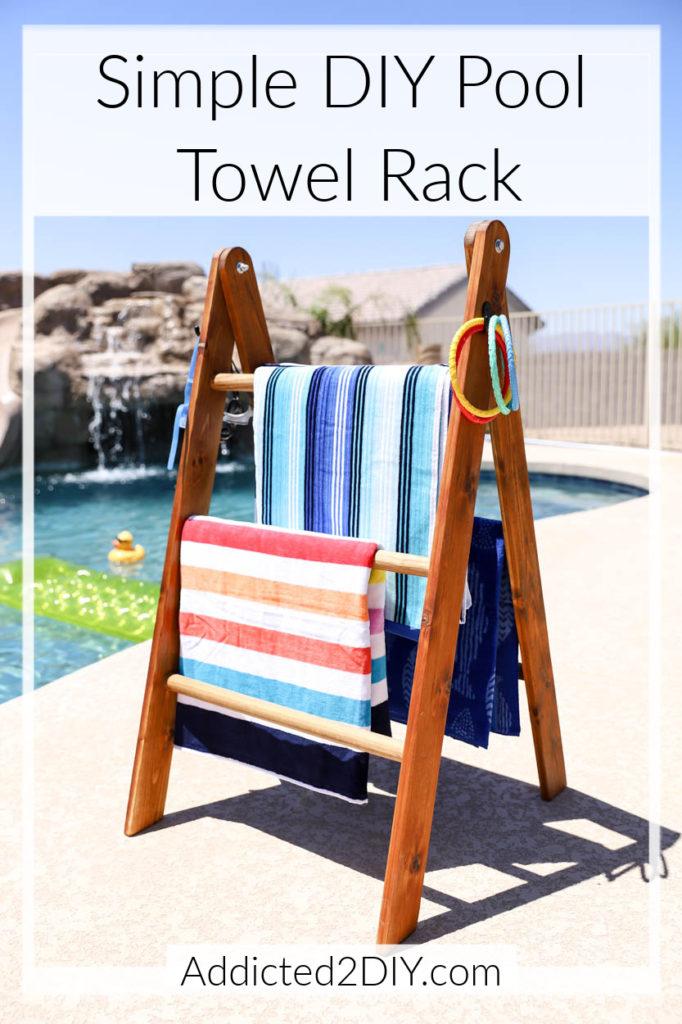 build a simple diy pool towel rack