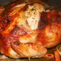 Sandra Lee's Roasted Butter Herb Turkey (uh Chicken)