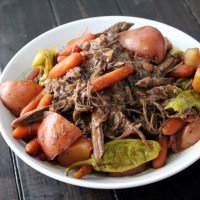 Slow Cooker Mississippi Pot Roast and Veggies