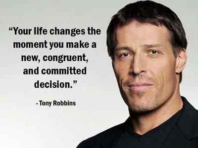 Tony Robbins - Change Your Life Picture Quote