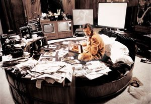 Hugh Hefner Working Playboy Office