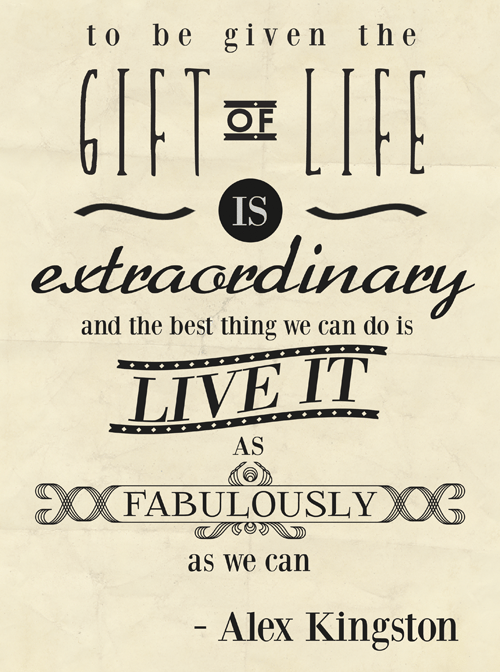 Inspirational Life Alex Typography Picture Quote Life
