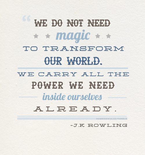 JK Rowling Inspirational Typography Picture Quote